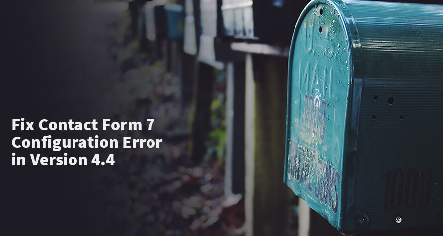 Contact Form 7 konfigurációs hiba javítása