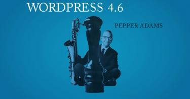 "WordPress 4.6 ""Pepper Adams"" a legfrissebb verzió"