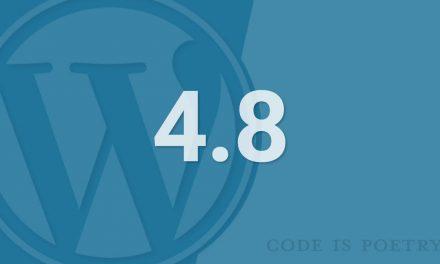 """Megérkezett """"Evans"""", WordPress 4.8"""