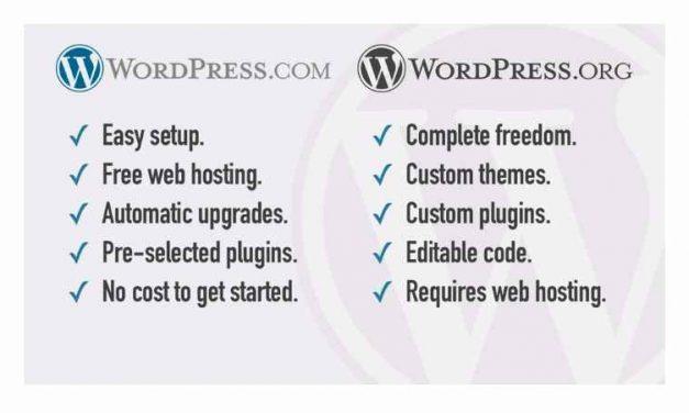 WordPress és WordPress.com közötti különbség