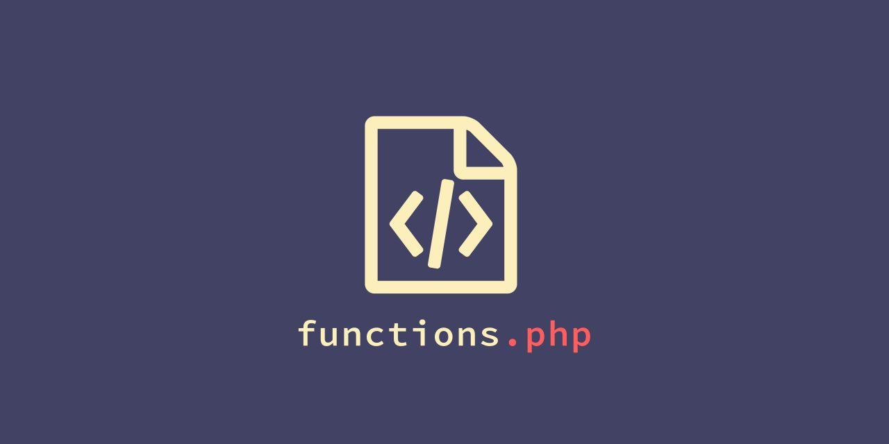 WordPress functions.php fájl módosítása, kiegészítése