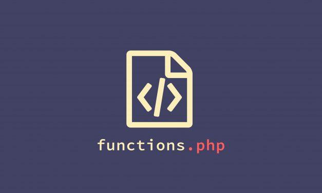 Csak másold bele a fenti kódot a sablonod mappájában található functions.php-ba