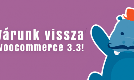 WooCommerce 3.3 elhalasztva!