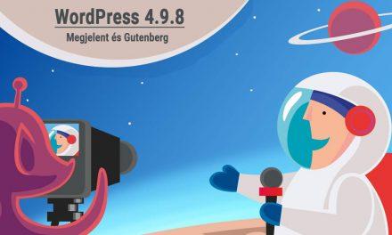 Új verzió: WordPress 4.9.8 + Gutenberg