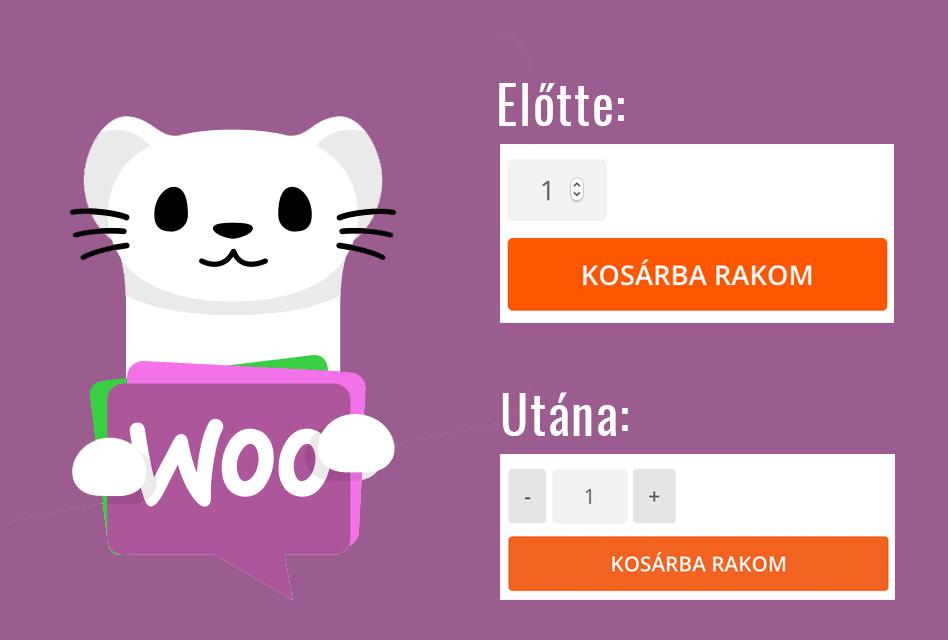 Bővítmény: WooCommerce mennyiségi gombok