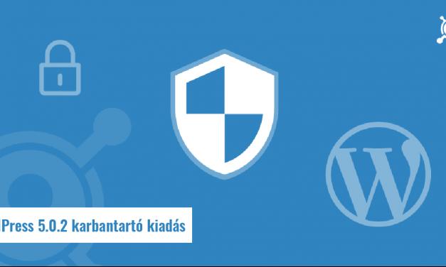 WordPress 5.0.2 karbantartó kiadás