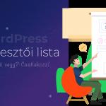 WordPress fejlesztői lista