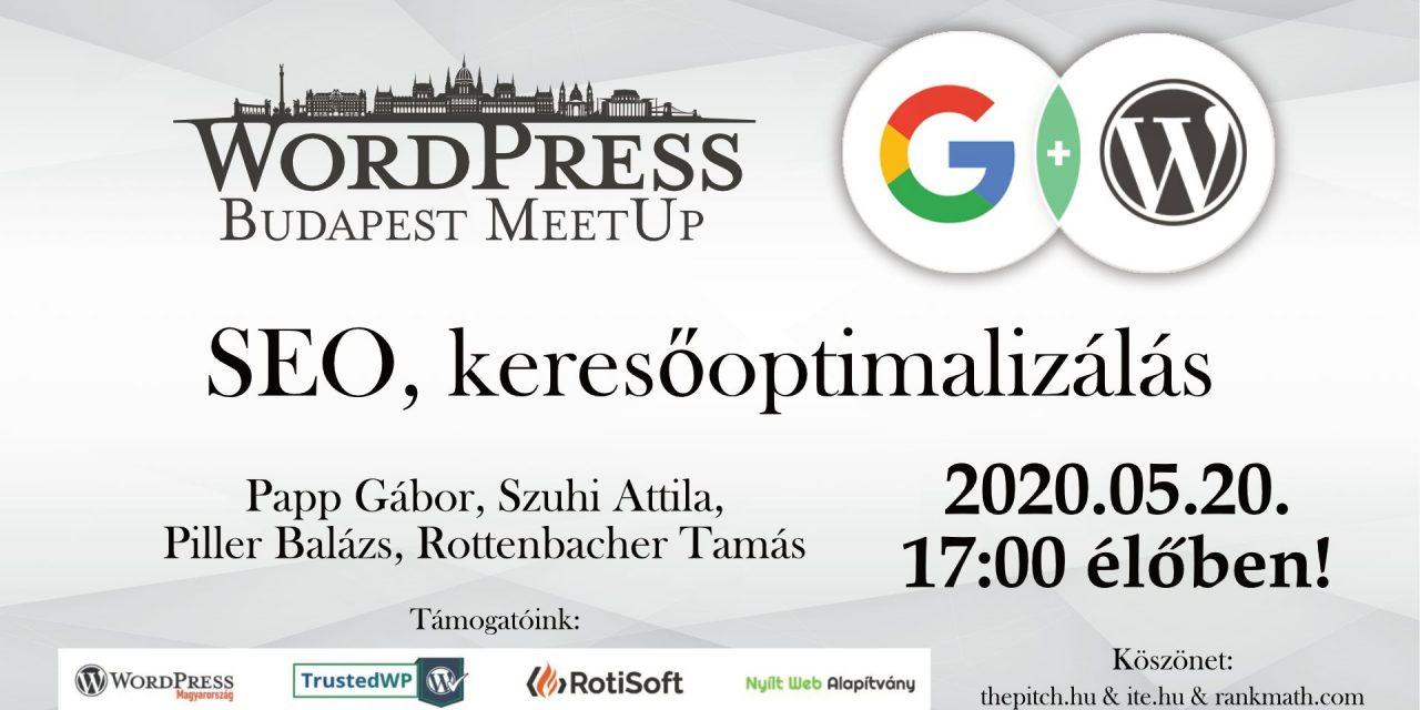 WordPress SEO – A WPMeetUp online ingyenes előadása